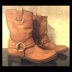 Frye Harness Boots Brown